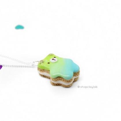 Ombre pink purple bear biscuit cook..