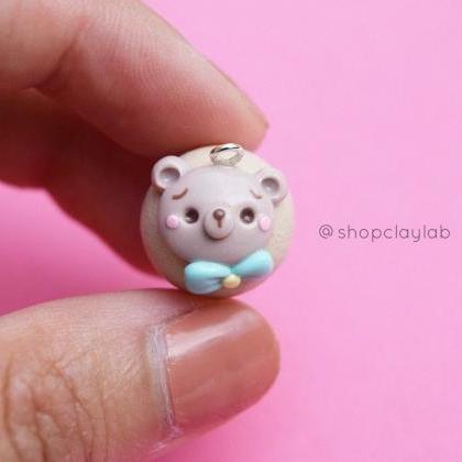 Kawaii bear face cute cupcake polym..