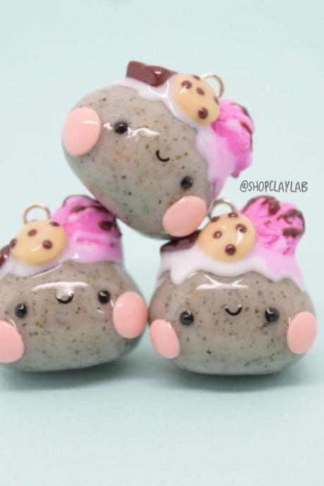 Cute candy pet rock crochet progress keepers
