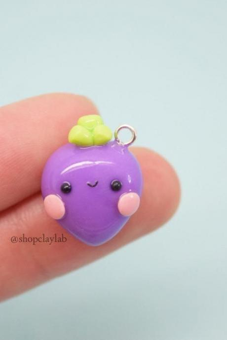 Kawaii purple beetroot charm gift ideas
