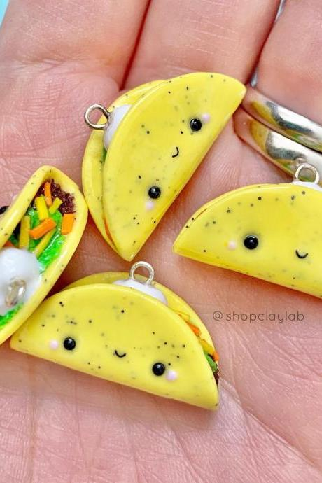 Cute Mexican taco crochet progress keepers, stitch markers