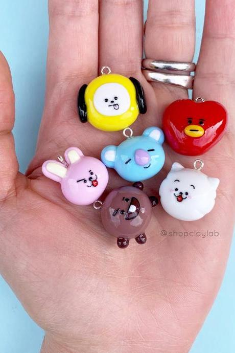 Cute BT21 characters planner charms