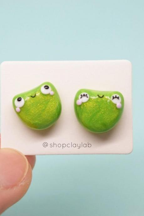 Cute mismatched funny frog toad jewelry