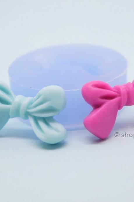 Cute girly bow ribbon polymer clay silicone mould