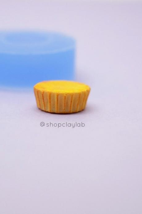 Cupcake base silicone mold| tart base mould| muffin base resin mold| kawaii decoden| dollhouse miniatures| sweets cabachons