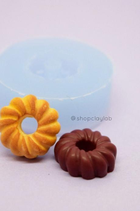 Miniature cruller donut silicone mold| bakery flexible push mold