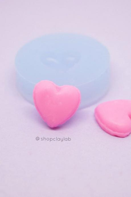 Mini love heart french macaron shell silicone mold
