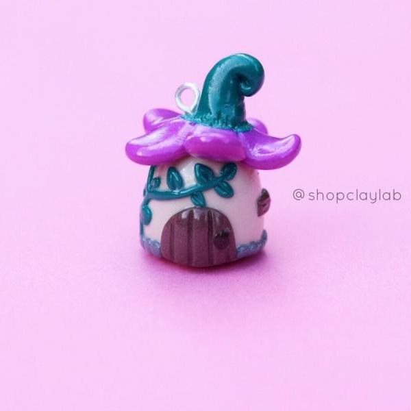 Mini flower fairy garden house charm